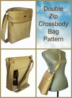 Classic crossbody bag sewing pattern. This stylish shoulder purse sewing pattern has plenty of pockets inside and out. We love the built in credit card pockets in the lining and the inside and outside zipper pockets. Plenty of room in a slimline bag that's easy to sew. #SewModernBags #BagSewingPattern #CrossbodyBagPattern #SewABag #EasyBagPattern Diy Pouch No Zipper, Zipper Bags, Bag Patterns To Sew, Sewing Patterns, Handbag Patterns, Wallet Sewing Pattern, Purse Strap, Simple Bags, Fabric Bags