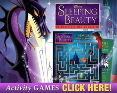Free Sleeping Beauty Printables! Fun Activity Games.