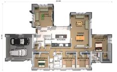 View the Sando 4 Bedroom House Plan from Generation Homes. Bedroom With Ensuite, Master Bedroom, 4 Bedroom House Plans, Open Plan, Dining Area, New Homes, Floor Plans, Layout, House Design