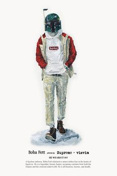 He Wears It is a mashup project by Hong Kong-based designer John Woo. The artist illustrates your favorite male Star Wars characters wearing stylish mens clothing from fashion designers and labels.