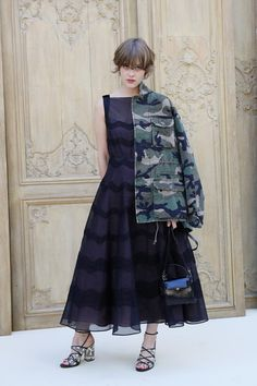 Mathilde Warnier attends the Valentino show as part of the Paris Fashion Week Womenswear  Spring/Summer 2017  on October 2, 2016 in Paris, France.