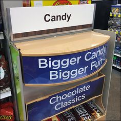 Bigger-Candy Bigger-Fun PowerWing – Fixtures Close Up All Candy, Candy Store, Close Up, Told You So, Retail, Big, Sleeve, Retail Merchandising, Retail Space