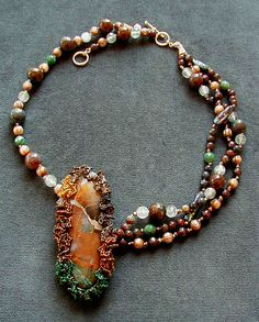 The Crack Between the Worlds Necklace by Mary Hicklin (Virgo Moon)