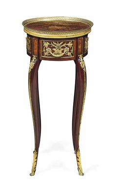 A FRENCH ORMOLU-MOUNTED MAHOGANY AND FRUITWOOD MARQUETRY SIDE TABLE OF LOUIS XV STYLE, LATE 19TH EARLY 20TH CENTURY