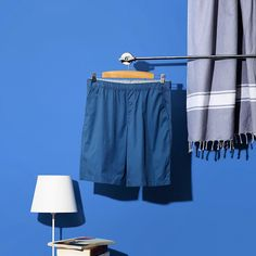 """Turning the meaning of the phrase """"feeling blue"""" around. Uniqlo, Kids Outfits, Marketing Plan, Shorts, Summer 2016, Turning, How To Wear, Blue, Clothes"""
