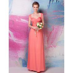 Sheath/Column Sweetheart Floor-length Silk Bridesmaid Dress