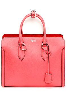 Alexander McQueen - Bags - 2014 Spring love the color, sharp and size Beautiful Handbags, Beautiful Bags, Alexander Mcqueen Bag, Bags 2014, Little Bag, Clutch Wallet, My Bags, Purses And Handbags, Bagan