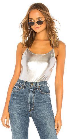 be8d0aaf4e5f8 Gianna Metallic Bodysuit. Metallic BodysuitCamisole TopSpandexTank ...