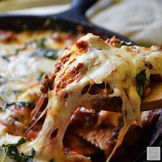 Cheesy Baked Ravioli Skillet   by Life Tastes Good