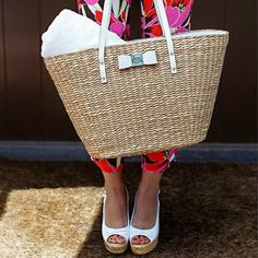Straw basket handbags are back for summer