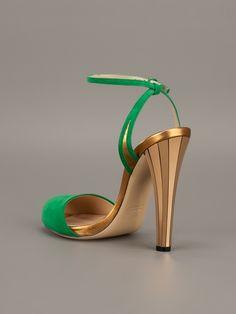 Gucci Peep Toe Sandal in Green