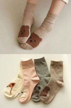Buy Full House daily like -Plain Socks Foot Warmers, Things To Buy, Stuff To Buy, Kids Socks, Cute Socks, Cute Diys, Full House, Cosy, Korean Fashion