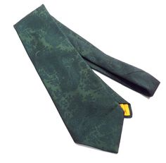 Green on Green Paisley Textured Pattern Wide Vintage Tie 1970s 4.5 Inch Mens Necktie by VintageCreekside on Etsy