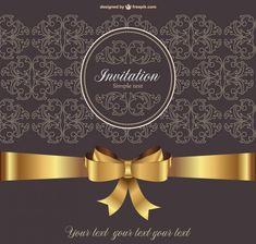 Vintage vector invitation Free Vector