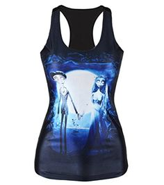 Amoluv Hot Fashion Women Corpse Bride Printed Sleeveless T Shirt Vest Tank Tops -- Want to know more, visit http://www.amazon.com/gp/product/B01GMNGJN0/?tag=wwwmytravel-20?gh=070816065053