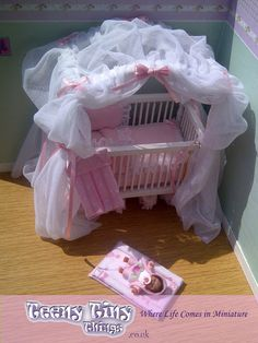 1/12th Scale Miniature Dolls House Nursery Set By Teeny Tiny Things