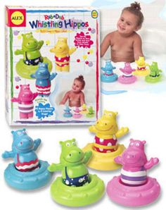 Rub a Dub Whistling Hippos Bath Toy