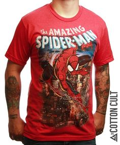 THE AMAZING SPIDERMAN - High Quality Tshirt MARVEL Comics Spectacular Movie