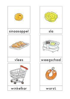 Woordkaarten Bas 'De supermarkt' 3 Preschool Themes, Preschool Crafts, Language Dictionary, Learn Dutch, Dutch Language, Best Teacher, Speech And Language, Bon Appetit, Super