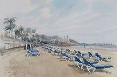 Cesc Farre, June 2016 Sketchers, Strand, Paris Skyline, Dolores Park, Watercolor, Painting, Travel, Cityscapes, Art