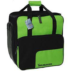 HENRY BRUBAKER Outdoor Sports Boot Bag Skate Bag Roller Blades Bag and Backpack Green Black -- Visit the image link more details.