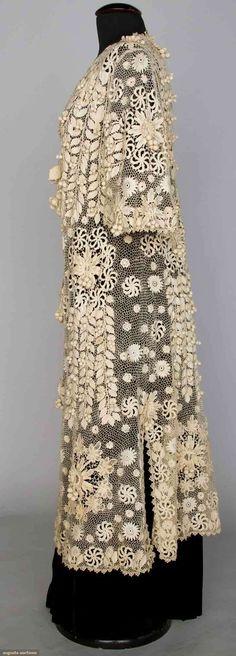 Irish crochet Edwardian coat