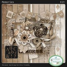 Memories - Kit- Simply Love Scrapbooking | Digital Scrapbook Store