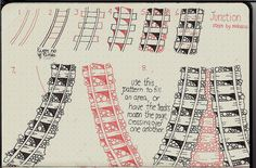 Junction-Tangle Pattern by molossus, who says Life Imitates Doodles, via Flickr
