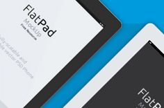 This is our version of a flat iPad mock-up inspired design. This mockup uses smart layers to dimension and apply any...