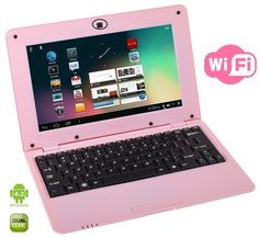 This WolVol 10-inch mini pink laptop includes the newest upgrade of Android 4.2 System (8GB Hard Drive, Dual Core Processor). The laptop that is in trend these days among teenage girls is a pink laptop.  A pink laptop would flatter your personality in a better way.
