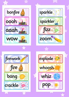 Twinkl Resources >> Bonfire Night Fireworks Word Cards >> Printable resources for Primary, EYFS, KS1 and SEN. Thousands of classroom displays and teaching aids! Topics, Bonfire Night, Fireworks, November, Word Cards