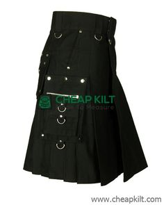 Do you want to look fashionable and stylish wearing your kilt? Created especially for guys like is this Gothic style fashion kilt made of cotton for comfort and classy look. kilts for men, kilts for sale Scotland Kilt, Glasgow Scotland, Cheap Kilts, Gothic Fashion, Style Fashion, Kilt Shop, Kilt Hire, Kilts For Sale, Utility Kilt