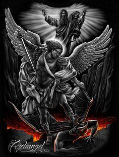 Ó Glorioso Príncipe do Céu, protetor das almas, eu clamo e invoco a ti para que me livres de todas as adversidades e todo o pecado, fazendo-me progredir no serviço de Deus e conseguindo d'Ele a graça de preservar até o final, para que possa gozar a Sua presença eternamente.São Miguel Arcanjo, protege-nos nos combates.(605×800)