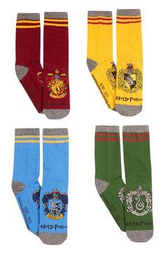 4 Pack Harry Potter Crew Socks