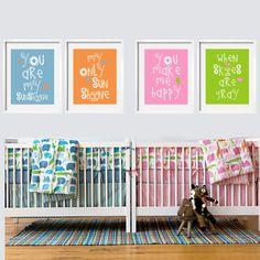 You Are My Sunshine nursery art