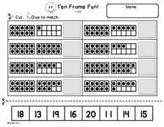 Printables Ten Frame Worksheets ten frame worksheet davezan pinterest the world 39 s catalog of ideas counting tens frame