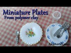 Dollhouse Miniature Plates Tutorial - Creating Dollhouse Miniatures
