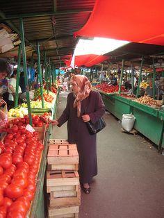 The market in Skopje, Macedonia