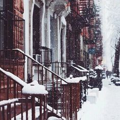 Christmas snow winter holiday xmas festive street NYC city new york snowing NY town snowflakes snowfall winter time xmas-wonderland Christmas Mood, Merry Little Christmas, Nature Architecture, Winter Love, Winter Holiday, Winter Snow, Cozy Winter, Christmas Aesthetic, Winter Photography