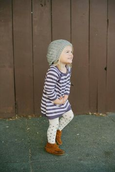 I want her to have a little Hipster style! Lol She's going to be a mama doll, so other than an adorable Peter pan collar, I don't want to go the typical baby doll route with her clothes. Definitely something similar to Aspen's style. Possibly a slouchy beanie, no cowl, and check out those awesome moccasins! Haha