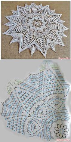 Free Crochet Doilies diagram Strategies Bonito y sencillo centro de ganchillo. – Wzory – Hottest Free Crochet Doilies diagram Strategies Bonito y sencillo centro de ganchillo. Filet Crochet, Beau Crochet, Crochet Mandala Pattern, Crochet Diy, Crochet Circles, Crochet Home, Crochet Tablecloth Pattern, Free Crochet Doily Patterns, Crochet Doily Diagram