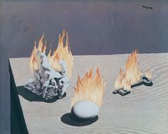 The Gradation of Fire (The Ladder of Fire) by Rene Magritte (1939)
