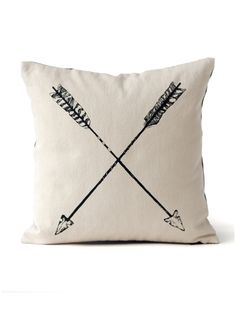 "Crossed arrows are a Native American symbol for friendship. And they'd work perfectly for our ""hunting chic""  living room."
