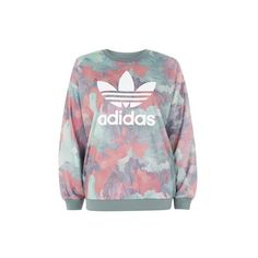 Pastel Crew Neck Sweatshirt by Adidas Originals ($68) ❤ liked on Polyvore featuring tops, hoodies, sweatshirts, multi, camouflage sweatshirt, crew-neck sweatshirts, camouflage crewneck sweatshirt, twist top and adidas