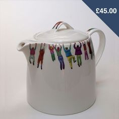 Alice Mara Teapot. I love the little people hanging on for dear TEA! $72