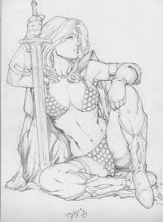 Red Sonja By Ed Benes//Ed Benes/B/ Comic Art Community GALLERY OF COMIC ART