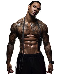 Sexy Black Men Pictures - Devin Thomas... hm I like you for the person you are INSIDE...HA! I like the ripples and...wow, this man is sculpted into a thing of beauty...