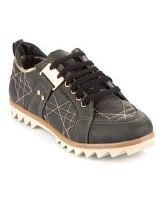 Cute & Unique!! ❤️ Black Stitch Sneaker on #zulily today!
