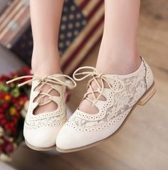 white oxfords for the wedding, elegant yet more comfortable than heels