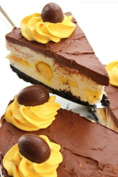 No Bake Cadbury Egg Cheesecake  - CountryLiving.com